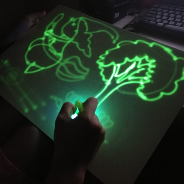 A4 Draw with Light in Dark Children Kids Funny Toy Drawing Board Set In Box Russian 4