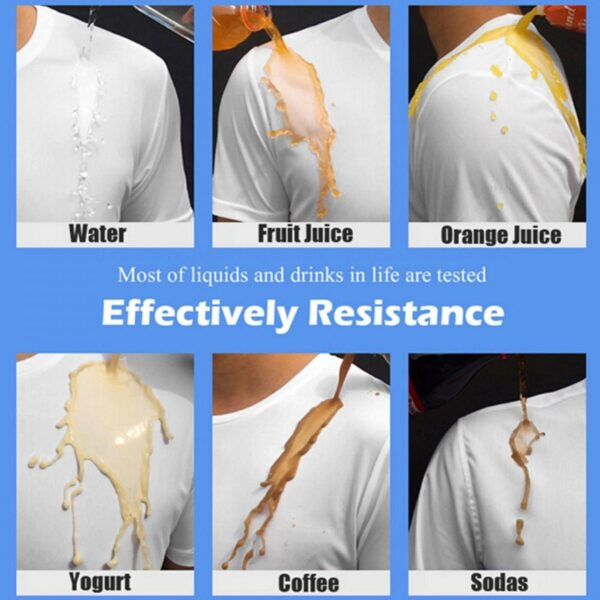 Anti Dirty Waterproof Men T Shirt Creative Hydrophobic Stainproof Breathable Antifouling Quick Dry Top Short Sleeve 4
