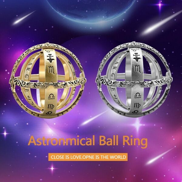 Astronomical Sphere Ball Ring Cosmic Finger Ring Couple Lover Jewelry Gifts TC21 3