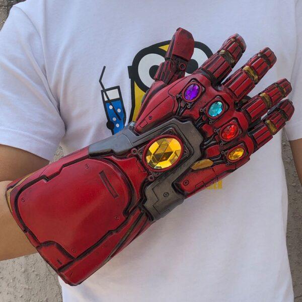 Avengers Endgame Iron Man Infinity Gauntlet Cosplay Arm Thanos Latex Gloves Arms Superhero Masks Weapon Props 3