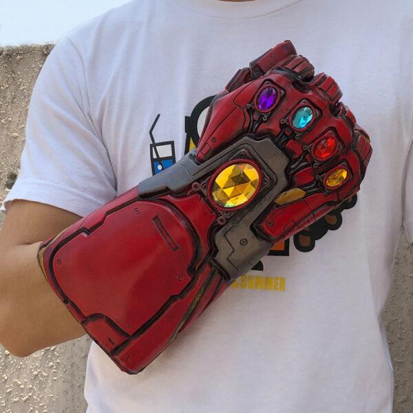 Avengers Endgame Iron Man Infinity Gauntlet Cosplay Arm Thanos Latex Gloves Arms Superhero Masks Weapon Props 4