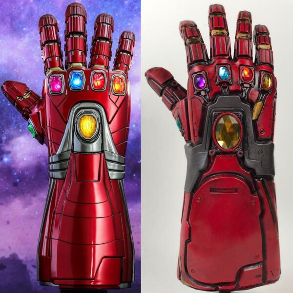 Avengers Endgame Iron Man Infinity Gauntlet Cosplay Arm Thanos Latex Gloves Arms Superhero Masks Weapon Props