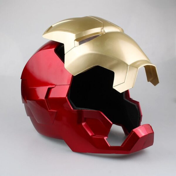 Avengers Iron Man Helmet Cosplay Marvel Superhero Tony Stark Action Figure Touch Sensing Mask with LED 3
