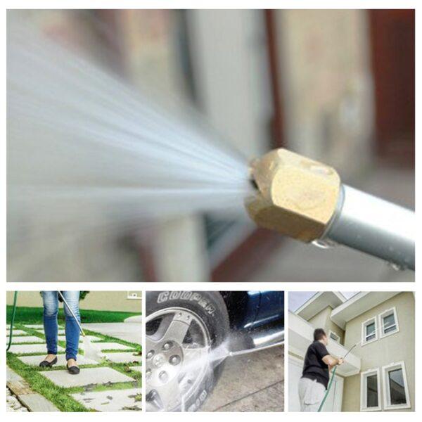 Car High Pressure Washer Water Gun Power Jet Washer Spray garden Nozzle Water Hose Wand Attachment 4