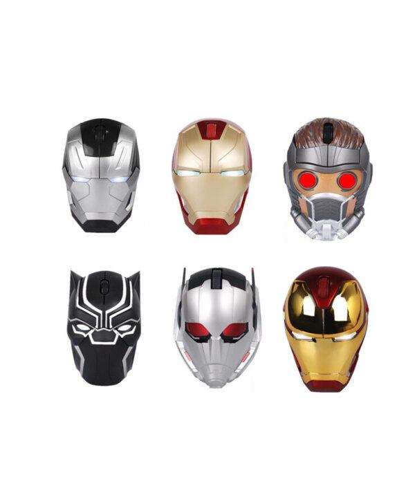 Comics Original Avengers Toys Black Panther Ant Man Iron Man Bluetooth Wireless Mouse Action Figure