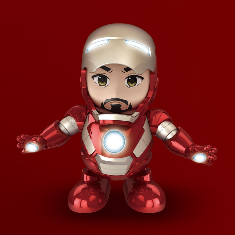 Dancing Iron Man Super Hero Marvel Avengers Robot Electric Musical Toys