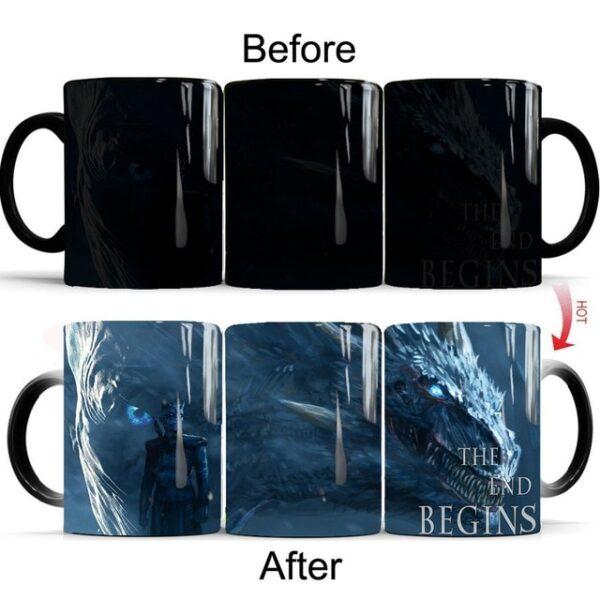 Drop shipping Game Of Thrones mugs Tribal totem mug color changing magic mugs cup Tea coffee 2.jpg 640x640 2