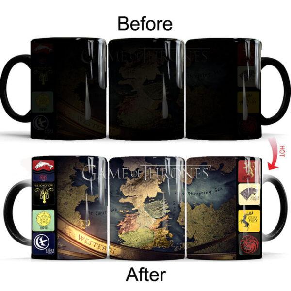 Drop shipping Game Of Thrones mugs Tribal totem mug color changing magic mugs cup Tea coffee 3.jpg 640x640 3