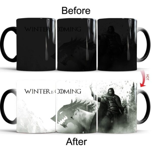 Drop shipping Game Of Thrones mugs Tribal totem mug color changing magic mugs cup Tea coffee 4.jpg 640x640 4