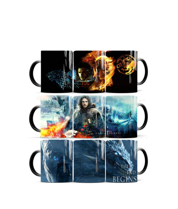Drop shipping Game Of Thrones mugs Tribal totem mug color changing magic mugs cup Tea coffee 6