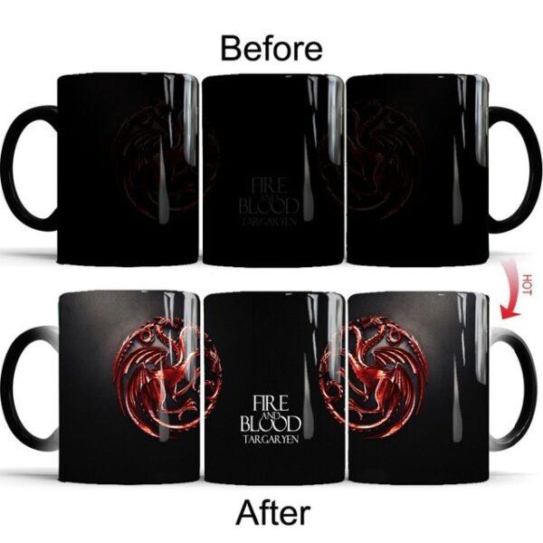 Drop shipping Game Of Thrones mugs Tribal totem mug color changing magic mugs cup Tea coffee 6.jpg 640x640 6