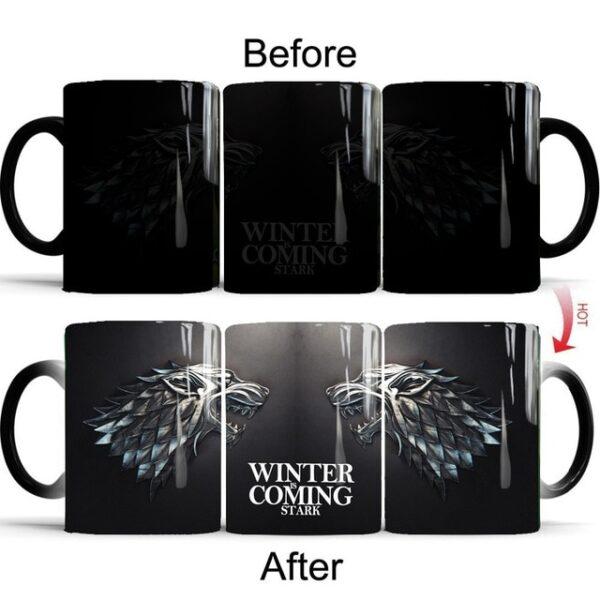 Drop shipping Game Of Thrones mugs Tribal totem mug color changing magic mugs cup Tea coffee 9.jpg 640x640 9