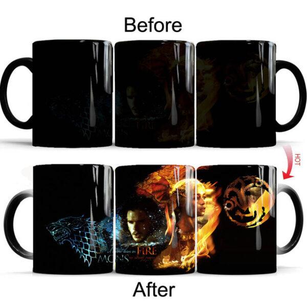 Drop shipping Game Of Thrones mugs Tribal totem mug color changing magic mugs cup Tea