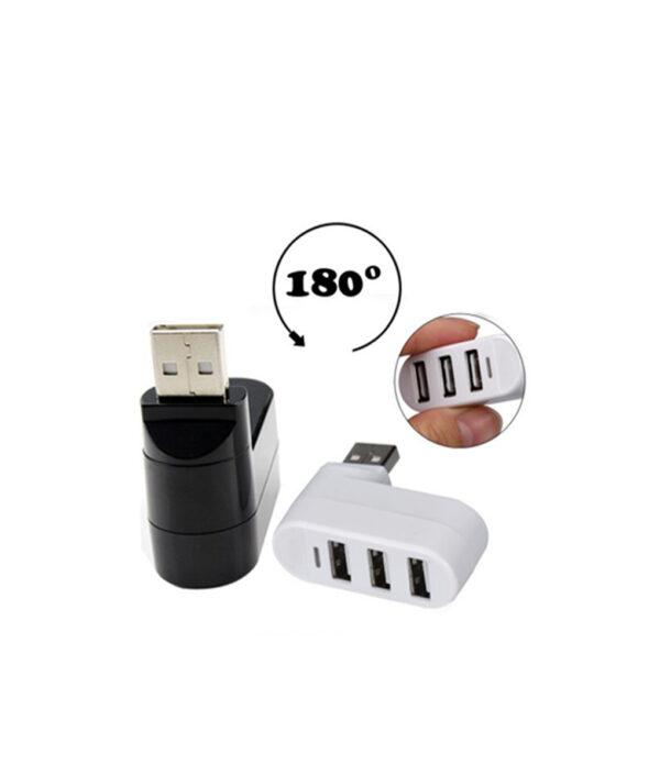 Ecosin2 2017 3 Ports USB 2 0 Mini Rotate Splitter Adapter Hub for PC Notebook Laptop 510x510 1