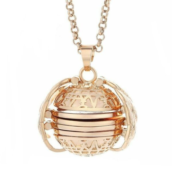 Expanding Photo Locket Necklace Pendant Choker Angel Wings Gift Jewelry Decoration Necklace Exquisite Ornaments Torque