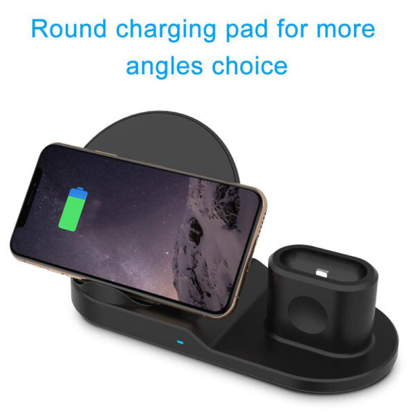FDGAO Qi Wireless Charger Fast Charging for iPhone 8 X XS Max XR Apple Watch 4 2 1