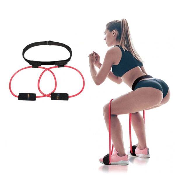 Fitness Women Booty Butt Band Resistance Bands Adjustable Waist Belt Pedal Exerciser for Glutes Muscle Workout 6