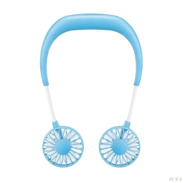 Hands free Neck Band Hands Free Hanging USB Rechargeable Dual Fan Mini Air Cooler Summer Portable 2.jpg 640x640 2
