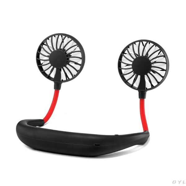 Hands free Neck Band Hands Free Hanging USB Rechargeable Dual Fan Mini Air Cooler Summer Portable 3