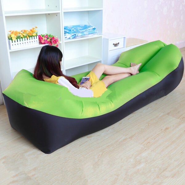 Lazy Pillow Waterproof Lazy Inflatable Sofa Portable outdoor beach air sofa bed Sleeping bag bed Oxford 1.jpg 640x640 1