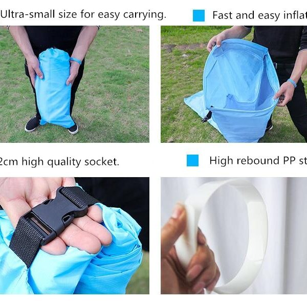 Lazy Pillow Waterproof Lazy Inflatable Sofa Portable outdoor beach air sofa bed Sleeping bag bed Oxford 2
