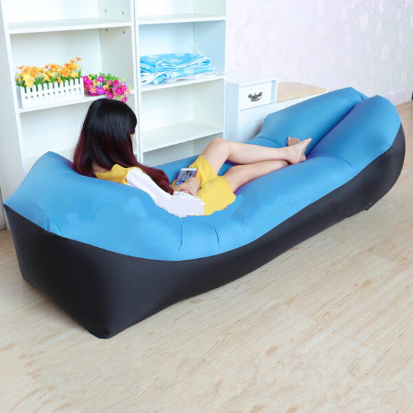 Lazy Pillow Waterproof Lazy Inflatable Sofa Portable outdoor beach air sofa bed Sleeping bag bed Oxford 2.jpg 640x640 2