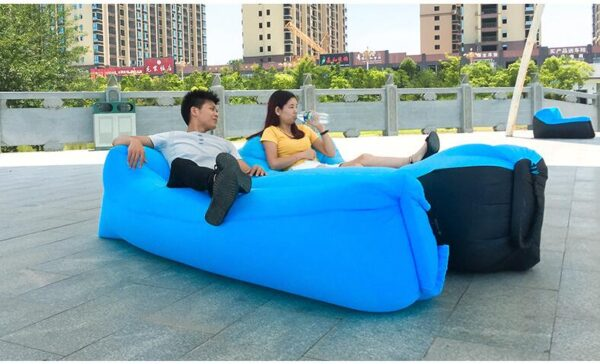 Lazy Pillow Waterproof Lazy Inflatable Sofa Portable outdoor beach air sofa bed Sleeping bag bed Oxford 3
