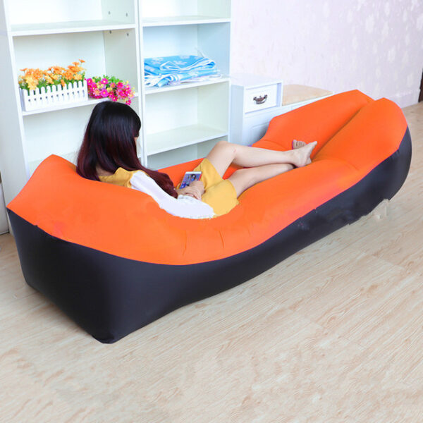 Lazy Pillow Waterproof Lazy Inflatable Sofa Portable outdoor beach air sofa bed Sleeping bag bed Oxford 3.jpg 640x640 3