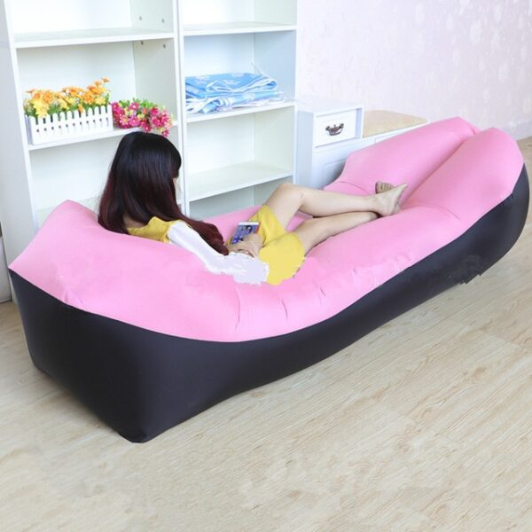 Lazy Pillow Waterproof Lazy Inflatable Sofa Portable outdoor beach air sofa bed Sleeping bag bed Oxford 4.jpg 640x640 4