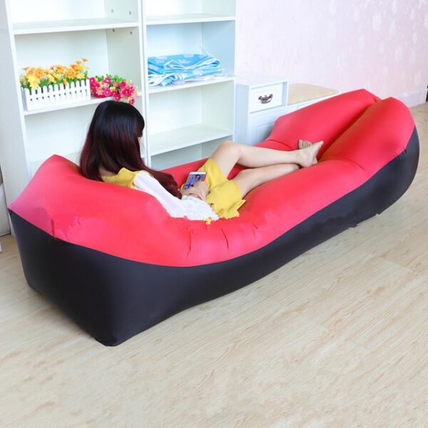 Lazy Pillow Waterproof Lazy Inflatable Sofa Portable outdoor beach air sofa bed Sleeping bag bed Oxford 6.jpg 640x640 6
