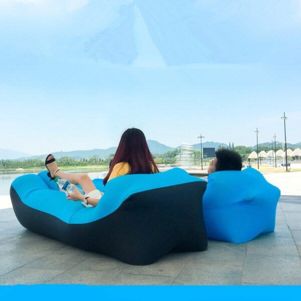 Lazy Pillow Waterproof Lazy Inflatable Sofa Portable outdoor beach air sofa bed Sleeping bag bed Oxford
