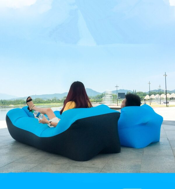 Lazy Pillow Waterproof Lazy Inflatable Sofa Portable outdoor beach air sofa bed Sleeping bag bed
