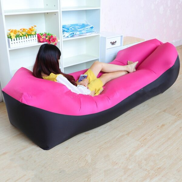 Lazy Pillow Waterproof Lazy Inflatable Sofa Portable outdoor beach air sofa bed Sleeping bag bed Oxford 7.jpg 640x640 7