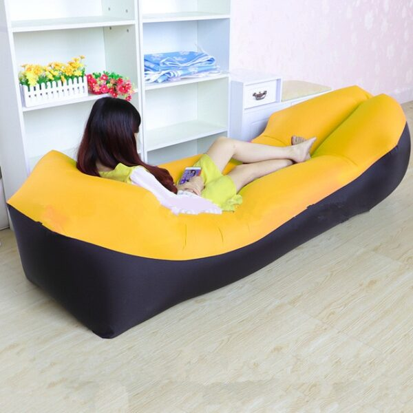 Lazy Pillow Waterproof Lazy Inflatable Sofa Portable outdoor beach air sofa bed Sleeping bag bed Oxford 8.jpg 640x640 8
