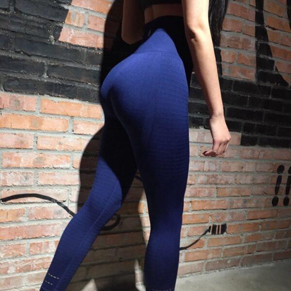 Lucylizz Women Yoga Pants Fitness Sports Leggings Running Tights Sportswear Push Up Pants Gym Clothing Mesh 3