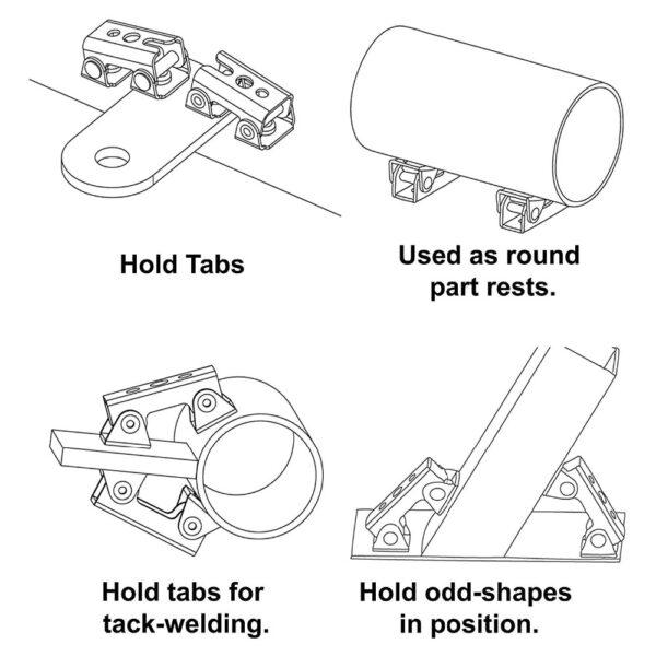 Magnetic V type Clamps V shaped Magnetic Welding Holder Welding Fixture Adjustable Magnetic V Pads Strong 2
