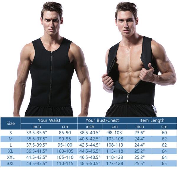 Men Waist Trainer Vest for Weight loss Hot Neoprene Fitness Corset Body Shaper Zip Sauna Tank 1
