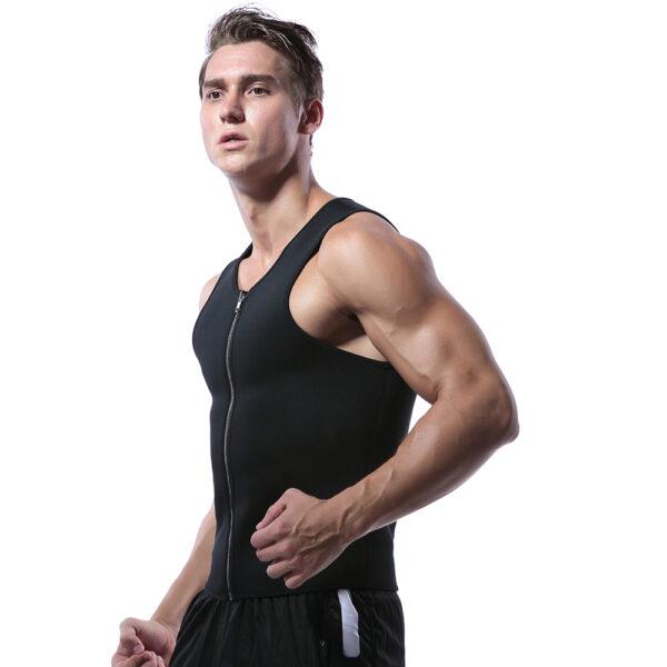 Men Waist Trainer Vest for Weight loss Hot Neoprene Fitness Corset Body Shaper Zip Sauna Tank 2