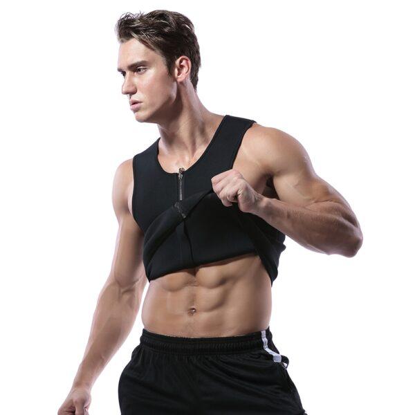 Men Waist Trainer Vest for Weight loss Hot Neoprene Fitness Corset Body Shaper Zip Sauna Tank 3