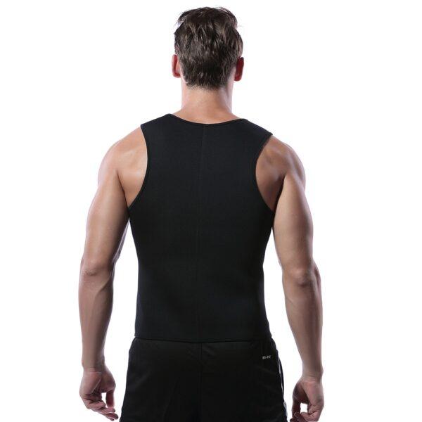Men Waist Trainer Vest for Weight loss Hot Neoprene Fitness Corset Body Shaper Zip Sauna Tank 4