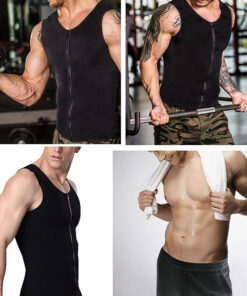 , Men's Zipper Neoprene Sauna Vest