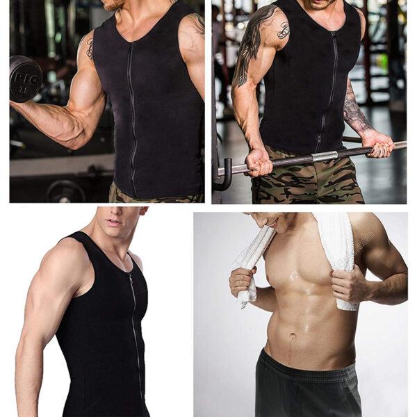 Men Waist Trainer Vest for Weight loss Hot Neoprene Fitness Corset Body Shaper Zip Sauna Tank 5