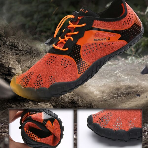 Mens Barefoot Five Fingers Shoes Summer Running Shoes for Men Outdoor Lightweight Quick Aqua Shoes Fitness 5