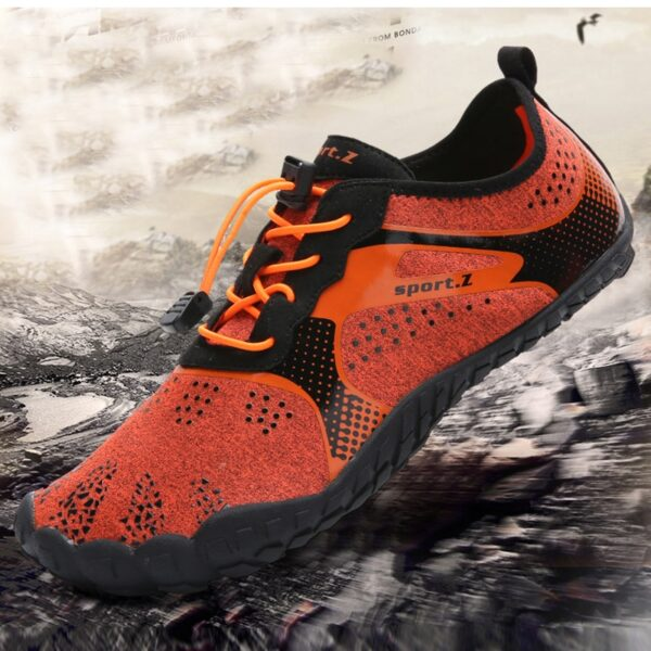 Mens Barefoot Five Fingers Shoes Summer Running Shoes for Men Outdoor Lightweight Quick Aqua Shoes Fitness
