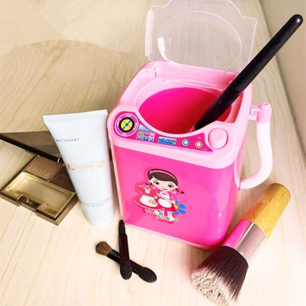 Mini Electric Makeup Brush Cleaner Washing Machine Dollhouse Toy Wash Makeup Brushes Beauty Blender cleaning Tool 1