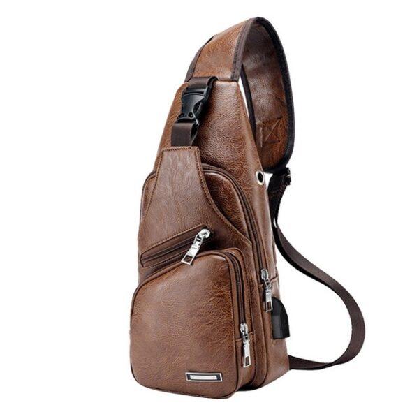 MoneRffi Men s Chest Bag Men Leather Chest Pack USB Backbag With Headphone Hole Functional Travel 1.jpg 640x640 1