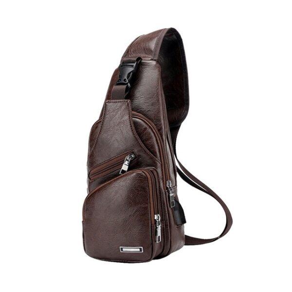 MoneRffi Men s Chest Bag Men Leather Chest Pack USB Backbag With Headphone Hole Functional Travel 2.jpg 640x640 2