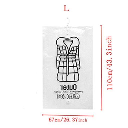 Hanging Transparent Vacuum Storage Bag, Hanging Transparent Vacuum Storage Bag