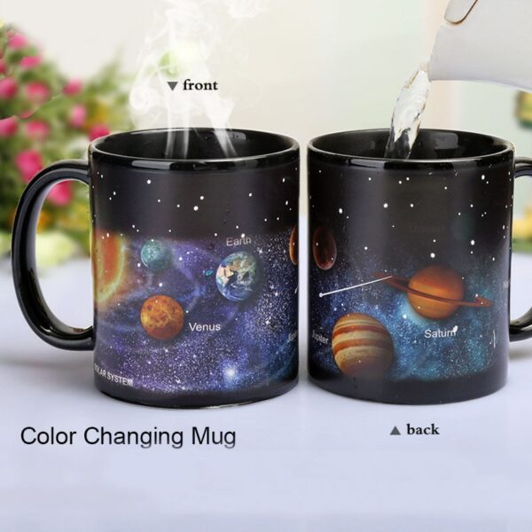 Newest Style Ceramic Cups Changing Color Mug Milk Coffee Mugs Friends Gifts Student Breakfast Cup 1