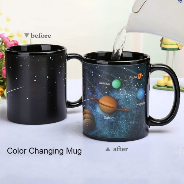Newest Style Ceramic Cups Changing Color Mug Milk Coffee Mugs Friends Gifts Student Breakfast Cup